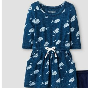 Cat & Jack Blue Floral Dress